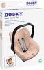Afbeeldingen van Dooky Seat Cover 0+ Origami swallow Rose