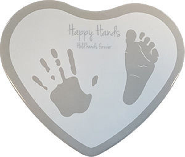Afbeeldingen van Happy Hands 2D Heart Shape Silver White