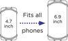Afbeeldingen van Dooky Universal phone holder black