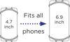 Afbeeldingen van Dooky Universal phone holder mint