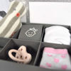 Afbeeldingen van Dooky Gift  Set Triple frame white handprint & memory box